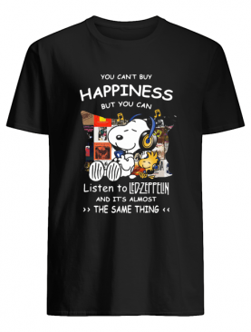 Snoopy And Woodstock You Can't Buy Happiness But You Can Listen To Led-zeppelin shirt