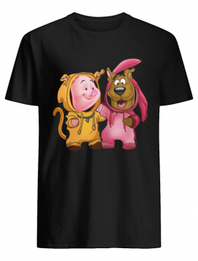 Baby Piglet and Scooby Doo shirt