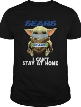 Baby Yoda Face Mask Sears Cant Stay At Home shirt