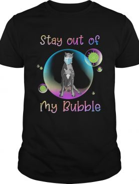 Great dane stay out of my bubble coronavirus mask covid19 shirt