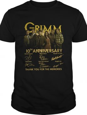 Grimm 10th Anniversary Thank You For The Memories Signature shirt