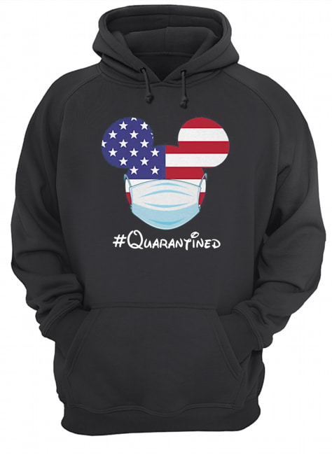 Mickey American Flag Face Mask Quarantined  Unisex Hoodie