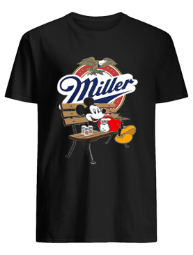 Mickey Mouse Drink Miller Beer shirt