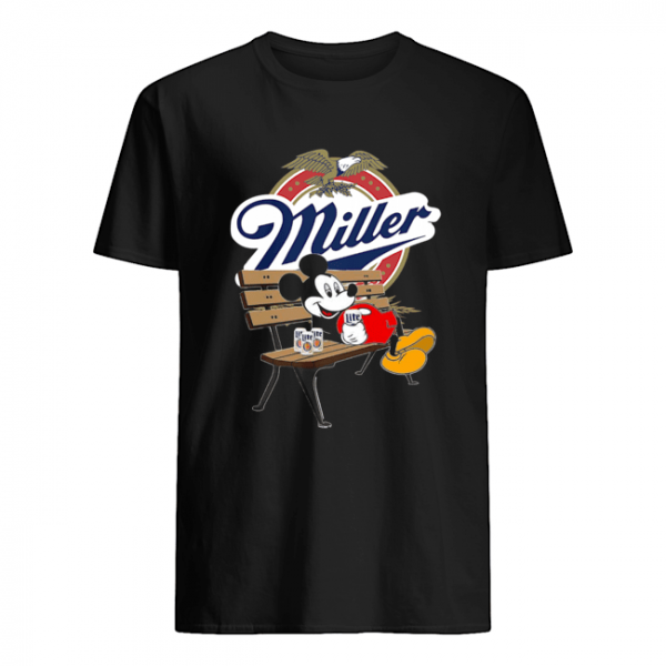 Mickey Mouse Drink Miller Beer  Classic Men's T-shirt