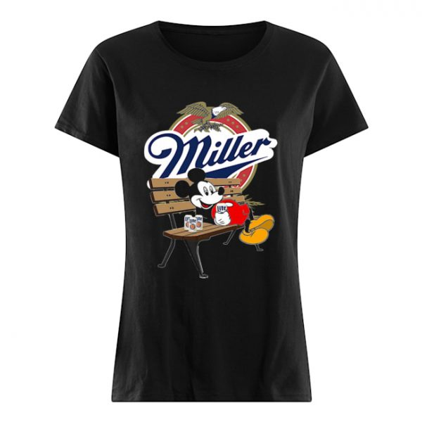 Mickey Mouse Drink Miller Beer  Classic Women's T-shirt