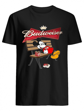 Mickey Mouse Drinking Budweiser Beer shirt