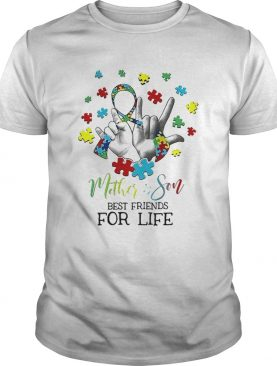 Nice MotherSon Best Friends For Life Awareness Autism shirt