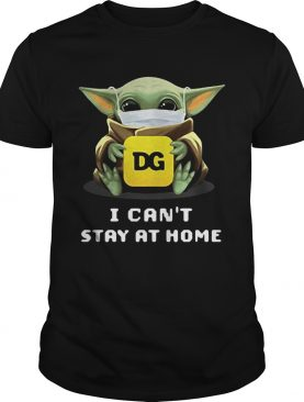 Star wars baby yoda hug DG I cant stay at home mask covid19 shirt