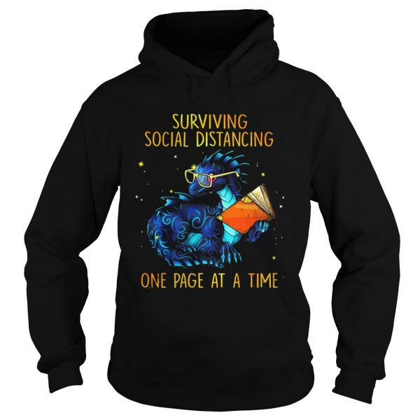 Surviving social distancing one page at a time Dragon  Hoodie