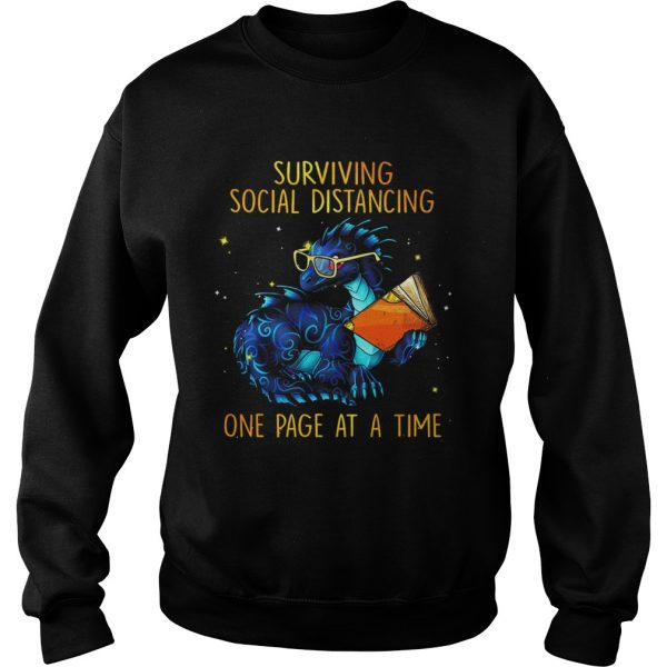 Surviving social distancing one page at a time Dragon  Sweatshirt