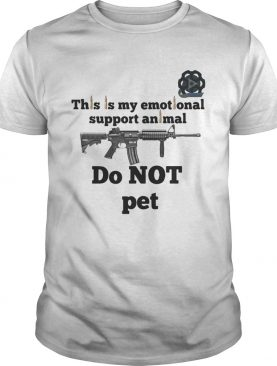This Is My Emotional Support Animal Do Not Pet shirt
