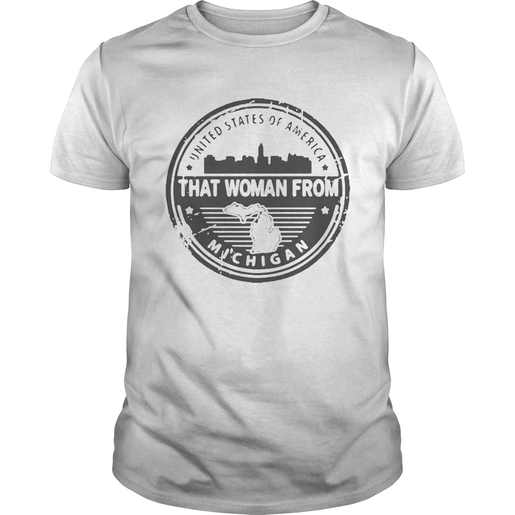 Usa Gretchen Whitmer That Woman From Michigan Shirt Archives Trend T Shirt Store Online