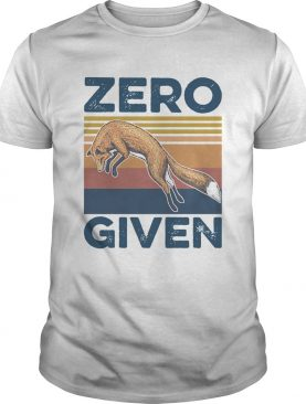 Vintage Red Fox Zero Given shirt