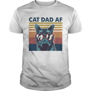 Cat dad af glasses vintage  Unisex