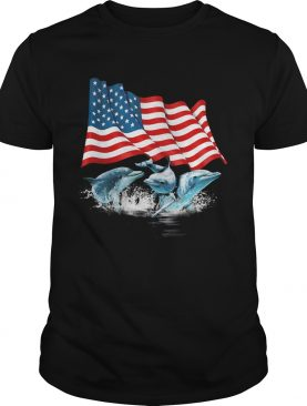 Dolphins american flag independence day shirt