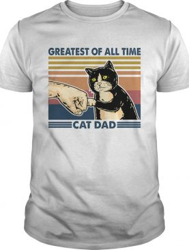 Greatest of all time cat dad vintage shirt