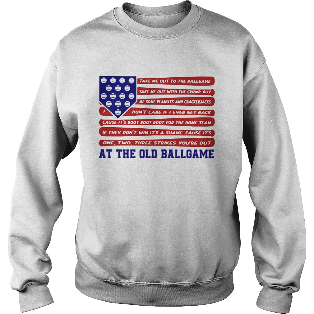 Independence Day At The Old Ballgame  Sweatshirt