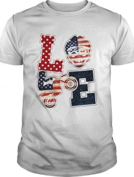 Love motocross American flag veteran Independence Day shirt