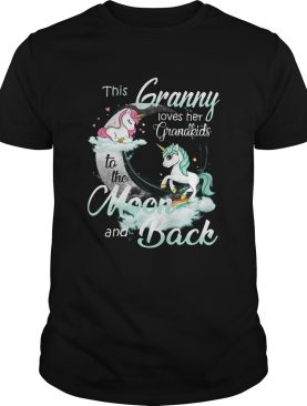 This Granny Loves Her Grandkids To The Moon And Back Unicorn shirt