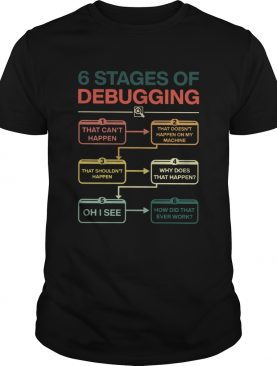 6 Stages Of Debugging shirt