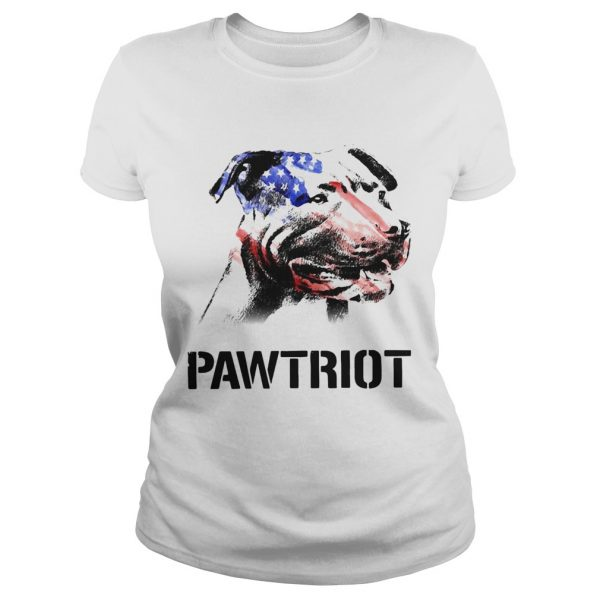 American Pit Bull Terrier Pawtriot 4th Of July Independence Day  Classic Ladies