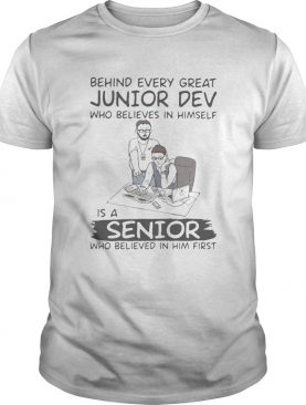 Behind every great junior dev who believes in himself is a senior who believed in him first compute