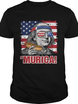 Benjamin Franklin Murica Happy The 4th Of July American Flag shirt