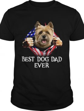 Blood Inside Me Cairn Terrier Dog American Flag Best Dog Dad Ever 2020 shirt