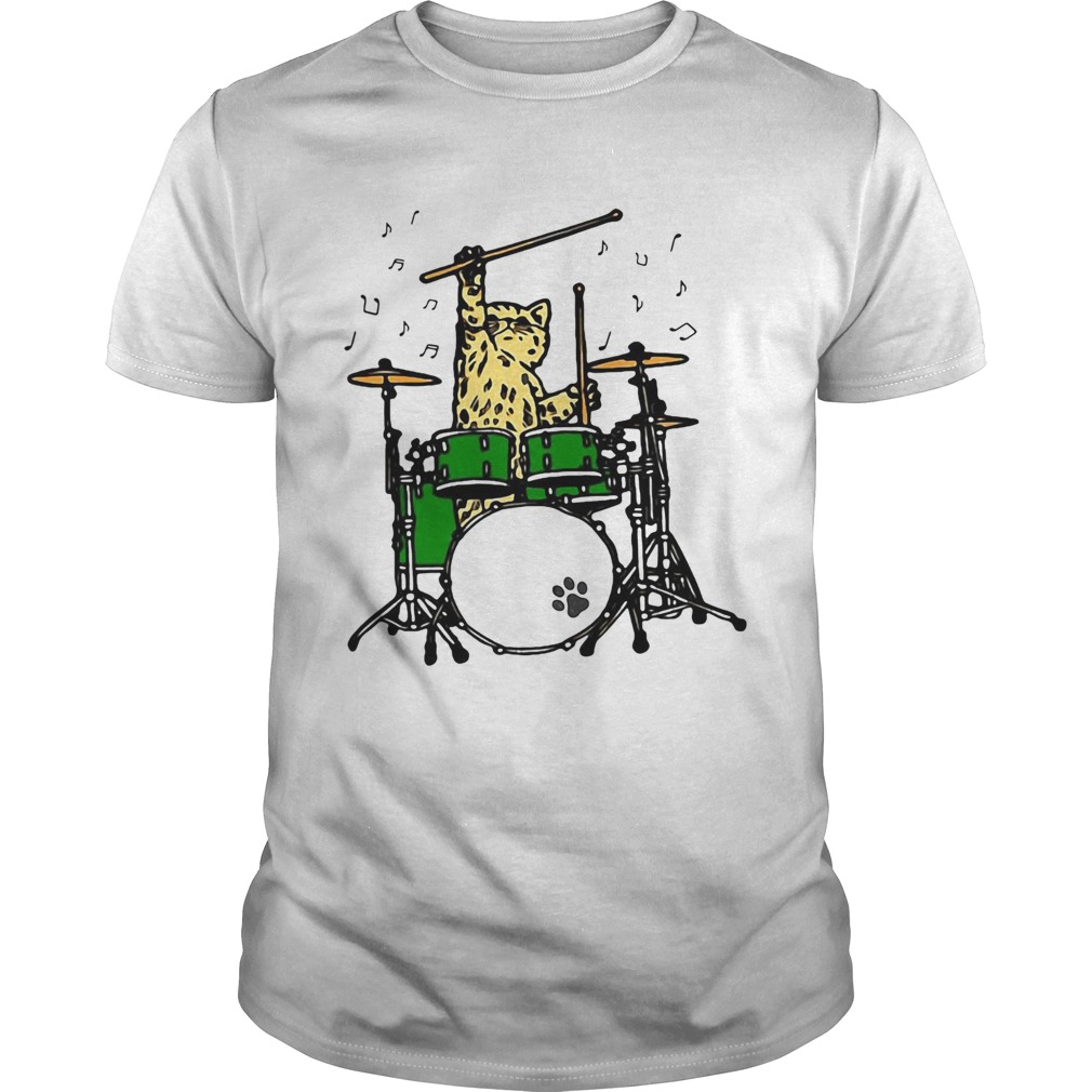 Cat Playing Drums  Unisex
