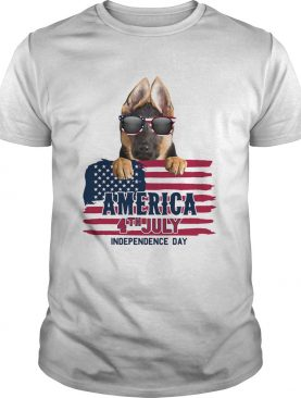 German shepherd 4th july independence day american flag shirt