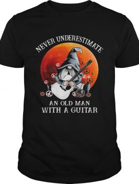 Gnomes never underestimate an old man with a guitar shirt