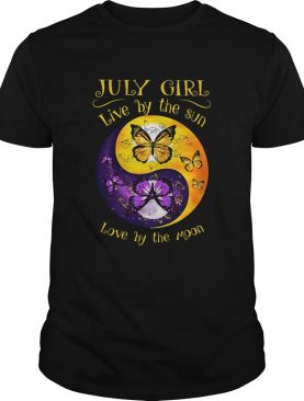 JULY GIRL LIVE BY THE SUN LOVE BY THE MOON BUTTERFLY shirt