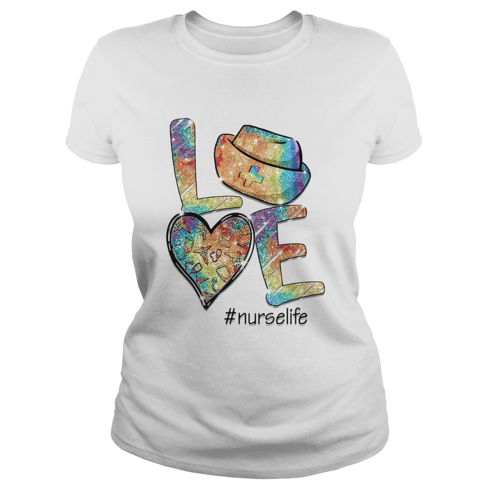Love nurse life stethoscope heart  Classic Ladies
