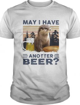 MAY I HAVE ANOTHER BEER SQUIRREL VINTAGE RETRO shirt