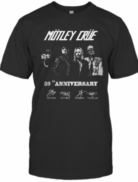 Motley Crue 38Th Anniversary Thank You For The Memories Signed T-Shirt
