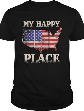 My happy place american flag independence day shirt