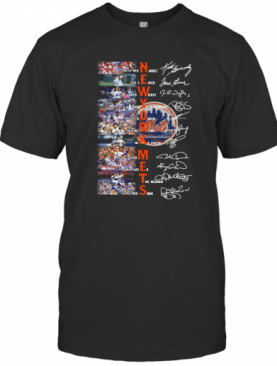 New York Mets Signatures Keith Hernandez Tom Seaver David Wright Signatures T-Shirt