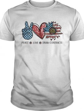 Peace love drew contracts sunflower american flag independence day shirt