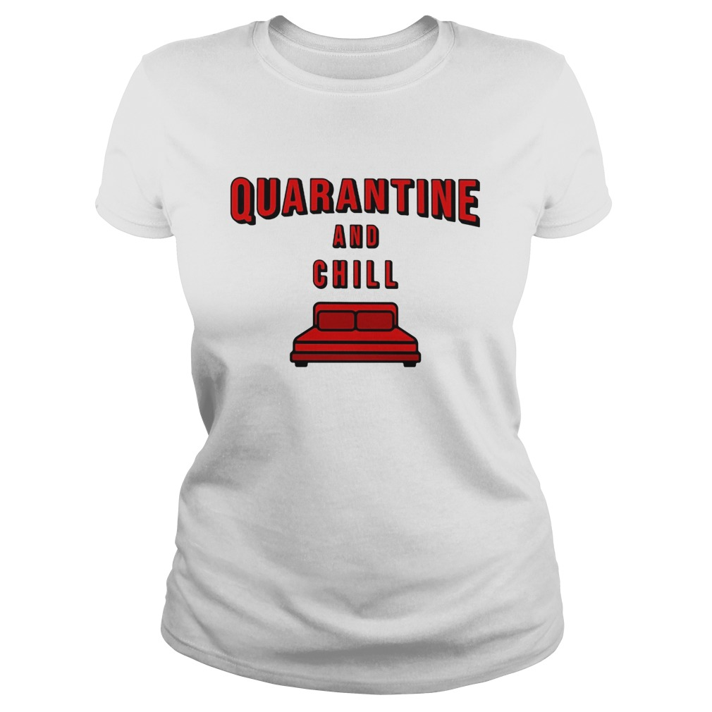 Quarantine and chill red bed  Classic Ladies
