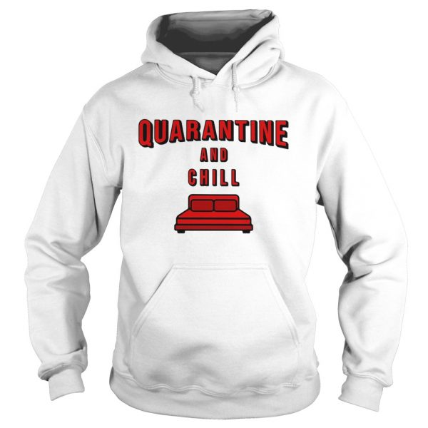 Quarantine and chill red bed  Hoodie