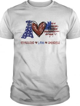 Schnauzer love america 4th of july independence day shirt