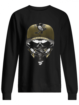 Skull mask pittsburgh penguins hockey shirt