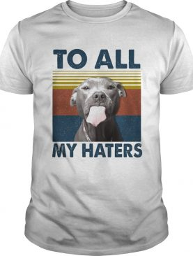 To all my haters Pitbull vintage retro shirt