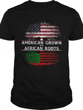 Tree American Grown With African Roots American Flag Independence Day shirt