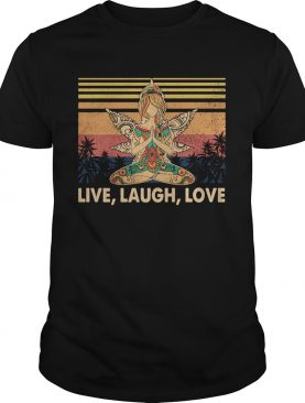 Weed yoga chill girl live laugh love vintage retro shirt