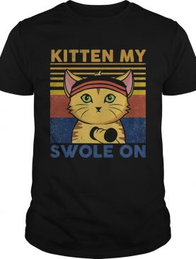 Weightlifting cat kitten my swole on vintage 2020 shirt