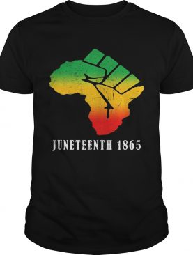 juneteenth 1865 fist shirt