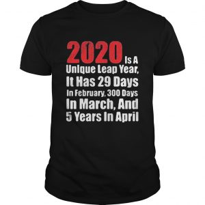2020 is a unlque leap year it has 29 days in February 300 days in March and 5 years in April  Unisex