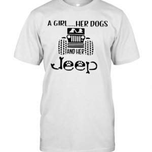 A Girl Her Dogs And Her Jeep T-Shirt Classic Men's T-shirt