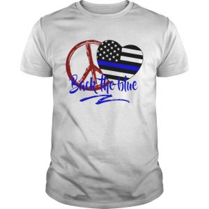 Back The Blue America Love Heart Independence Day  Unisex